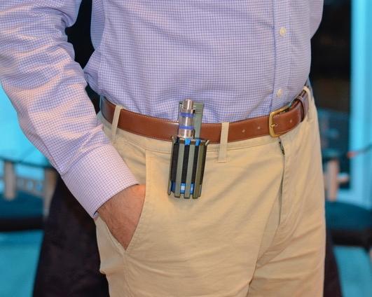 Clip the vape holder on your belt