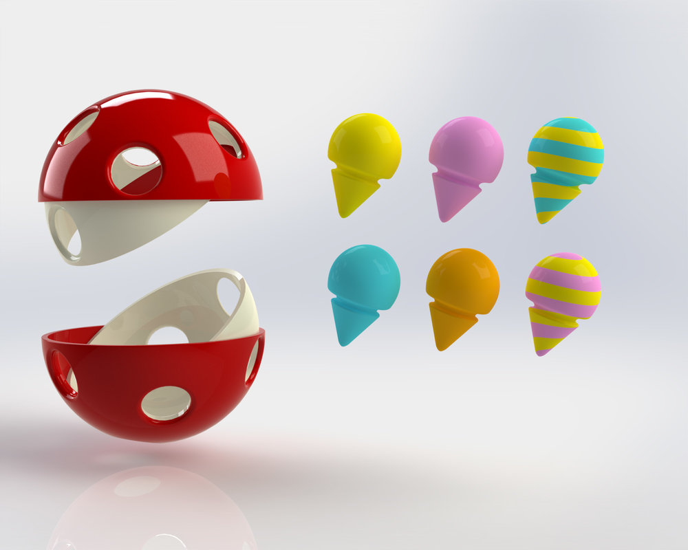 The pins vary in colour to allow different configurations and accordingly, many ways to play with the toy.