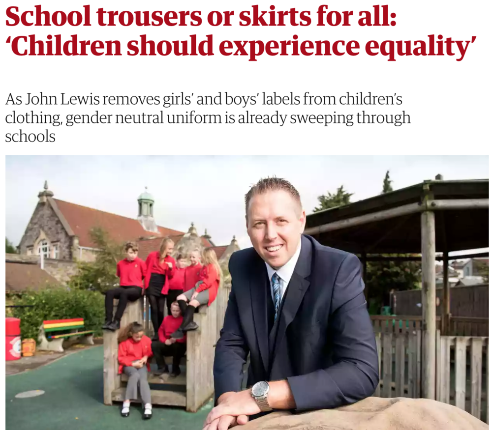 Read:   School trousers or skirts for all: 'Children should experience equality'  The Guardian