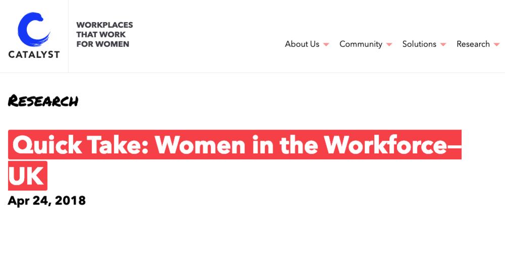 Women in the Workforce UK | Catalyst