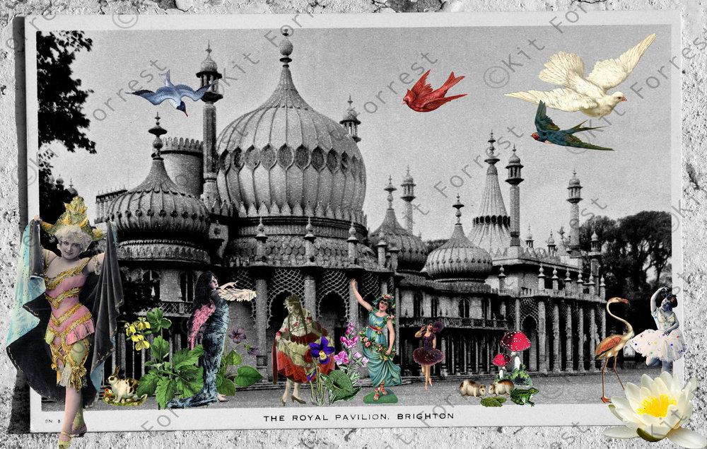 Kit Forrest Brighton Pavilion Sussex Collage