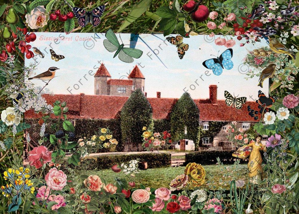 Kit forrest Sissinghurst Castle Collage Kent History