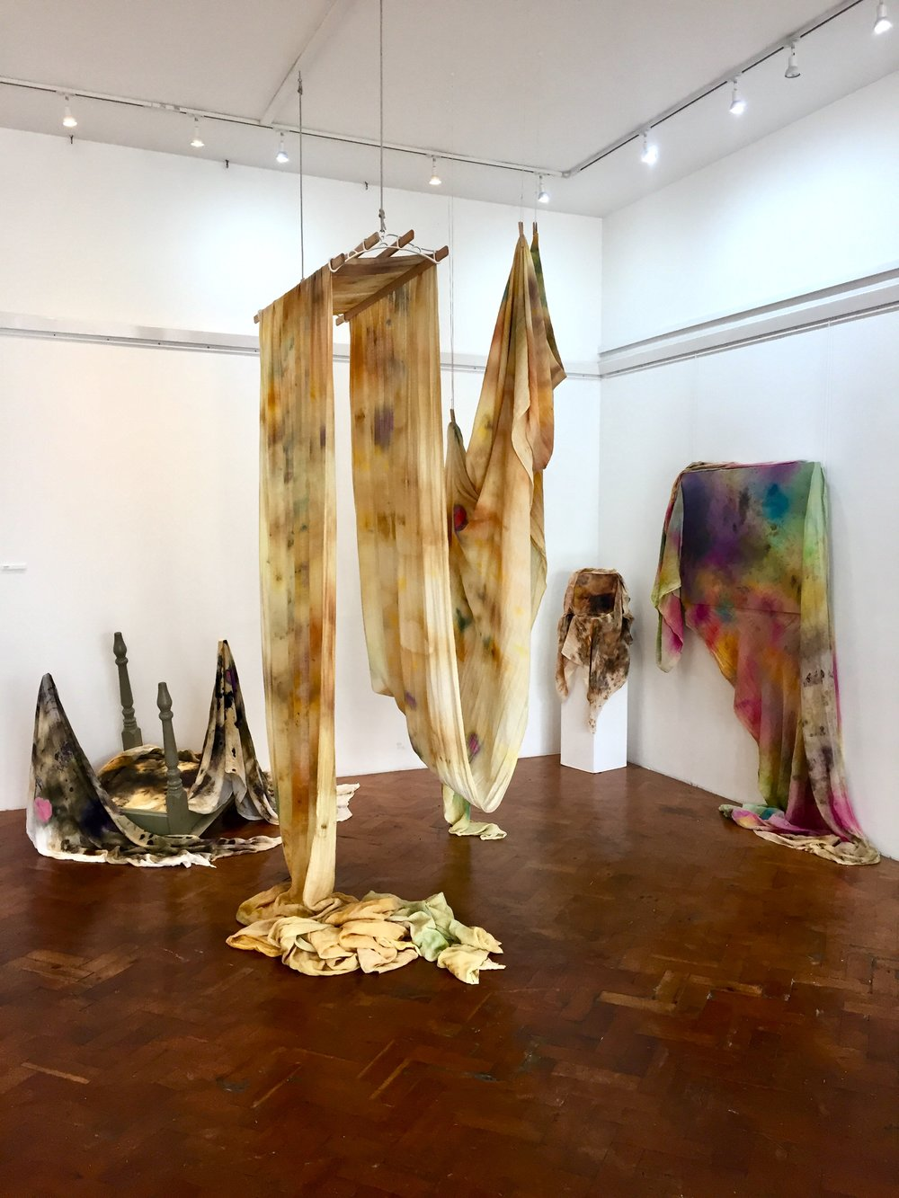 Wavelengths - Group show, 'Wavelengths', Hastings Arts Forum September 2018.From left to right: Time Passes, Mother At The Window, Untitled, A Journey In Process