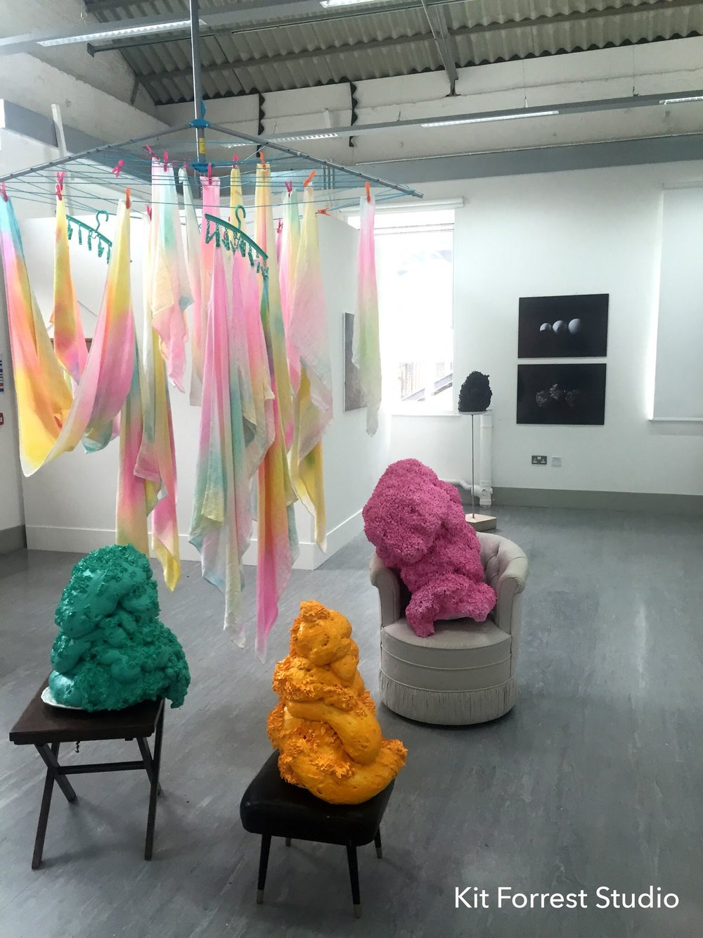 The Age Of Austerity - Group Show, 'The Age Of Austerity', Chatham Historic Dockyard, June 2016From left to right, Airing Dirty Laundry, Paint Goddesses