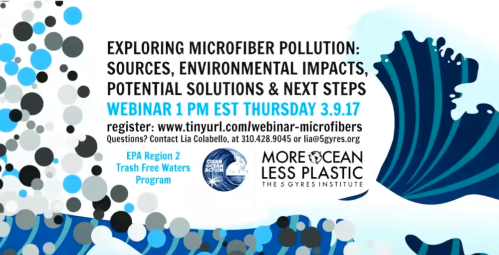 Microfiber Webinar - 5 Gyres Institute, September 3, 2017