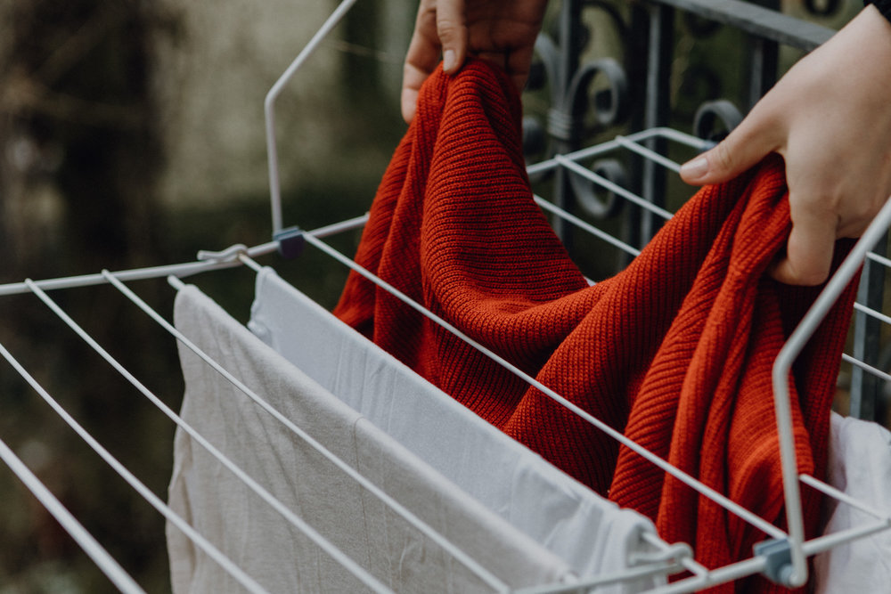 WASH LESS!  Air out your clothes and wash out stains by hand to avoid unnecessary laundering.  Don't let convenience harm sea life and our health.