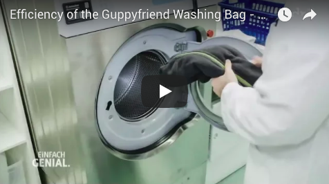 Recently, a TV team visited the German Textile Research Institute. At the institute they tested the efficiency of the Guppyfriend washing bag.