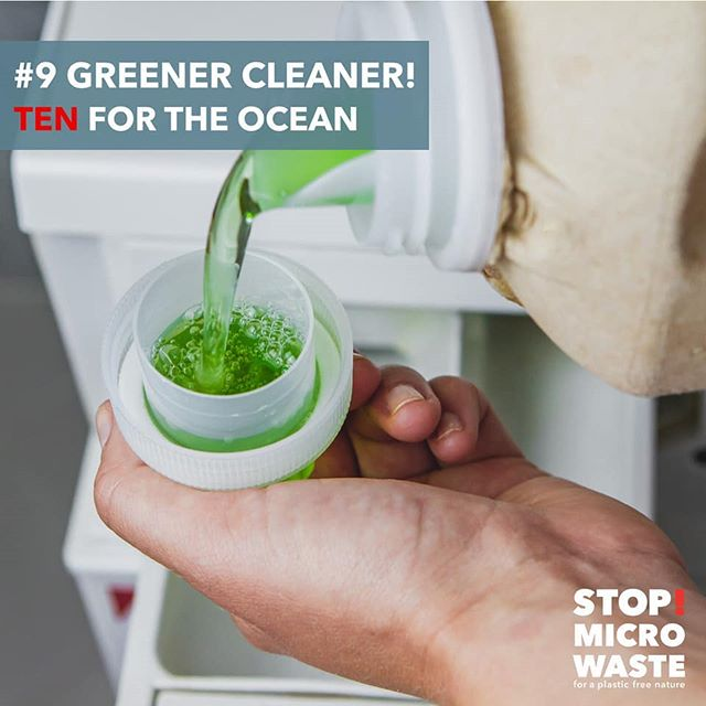 TEN FOR THE OCEAN - S!MW WASHING GUIDE FOR A PLASTIC FREE NATURE:  #9 GREENER CLEANER!  Use less and best detergent! Washing powder often contains mineral abrasives. These abrasives tend to increase friction, and increased friction leads to more fibers breaking. Bleach and ph-value affect the fiber construction, too. Look for a detergent with a neutral ph-value and without bleach.  Link to the complete guide on our profile. . . #weareguppyfriendly #plasticfree #plasticwaste #skipplastic #washingguide #stopmicrowaste #microplastic #plasticpollution #guppy #guppyfriend #washingbag #marinedebris #plasticfree #conciousliving #stopmicrowaste #plasticfreenature #safetheplanet #environmentallyfriendly #chemfreelife #nontoxic #earthfriendly #greenhome #saynotoplastic #naturalliving #reduceplastic #plasticwaste #environmentalpollution #nature #naturelovers #singleuseplastic