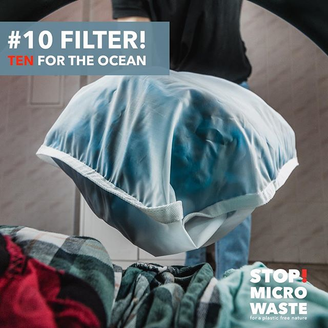 TEN FOR THE OCEAN - S!MW WASHING GUIDE FOR A PLASTIC FREE NATURE:  #10 FILTER! – USE A FILTER AND THE GUPPYFRIEND WASHING BAG!  Filter your wastewater: Build a filter for the outlet of your washing machine. Use the Guppyfriend washing bag. It prevents microfibers from entering oceans. Its use results in fewer fibers breaking and thus extends the lifetime of your textiles. Those fibers that do break are reliably held back. The Guppyfriend is also a daily reminder to recall the TEN FOR THE OCEAN . . #weareguppyfriendly #plasticfree #plasticwaste #skipplastic #washingguide #stopmicrowaste #microplastic #plasticpollution #guppy #guppyfriend #washingbag #marinedebris #plasticfree #conciousliving #stopmicrowaste #plasticfreenature #safetheplanet #environmentallyfriendly #chemfreelife #nontoxic #earthfriendly #greenhome #saynotoplastic #naturalliving #reduceplastic #plasticwaste #environmentalpollution #nature #naturelovers #singleuseplastic