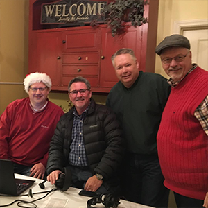Mayor Dan and Crew at the 2018 Old Firehouse Christmas celebration.