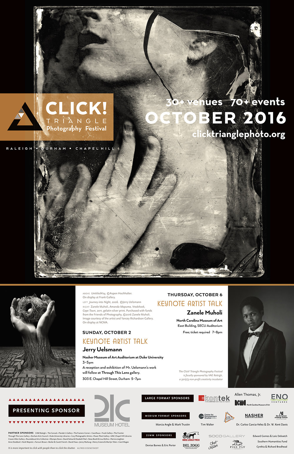 As well as being a co-sponsor of the festival, H&B has designed the program guides and posters for Click! since 2015. 12 x 18 inch poster.