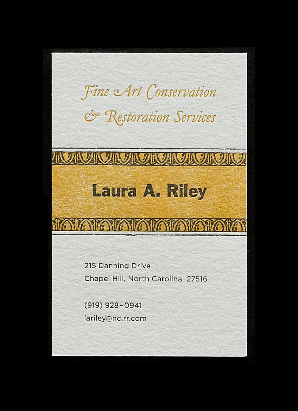 Slightly oversized business card. 2.5 x 4 inches. Purposefully letting the warm yellow background be mottled rather than a flat perfect solid. To show the beauty of irregularity/imperfection.