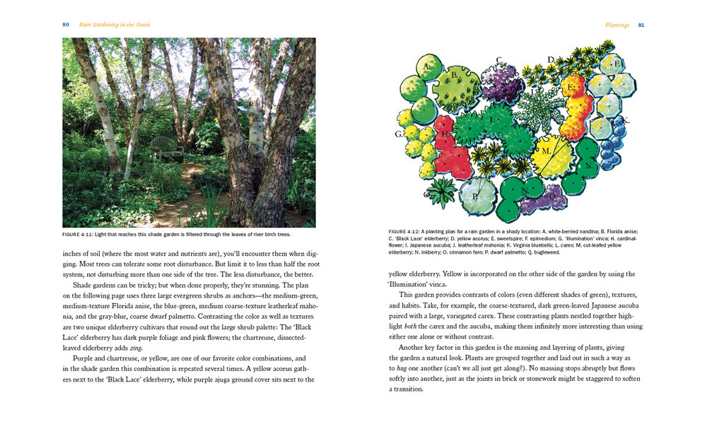 Landscape architecture drawings integrating with photos and text.