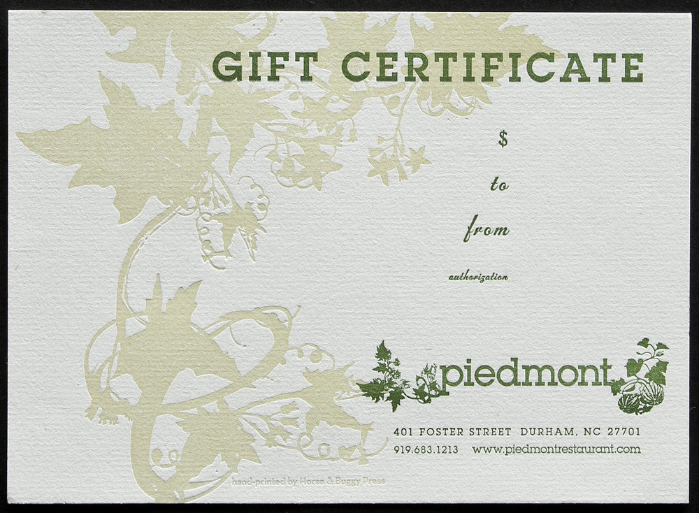 Letterpress printed to make the gift and presentation more special.