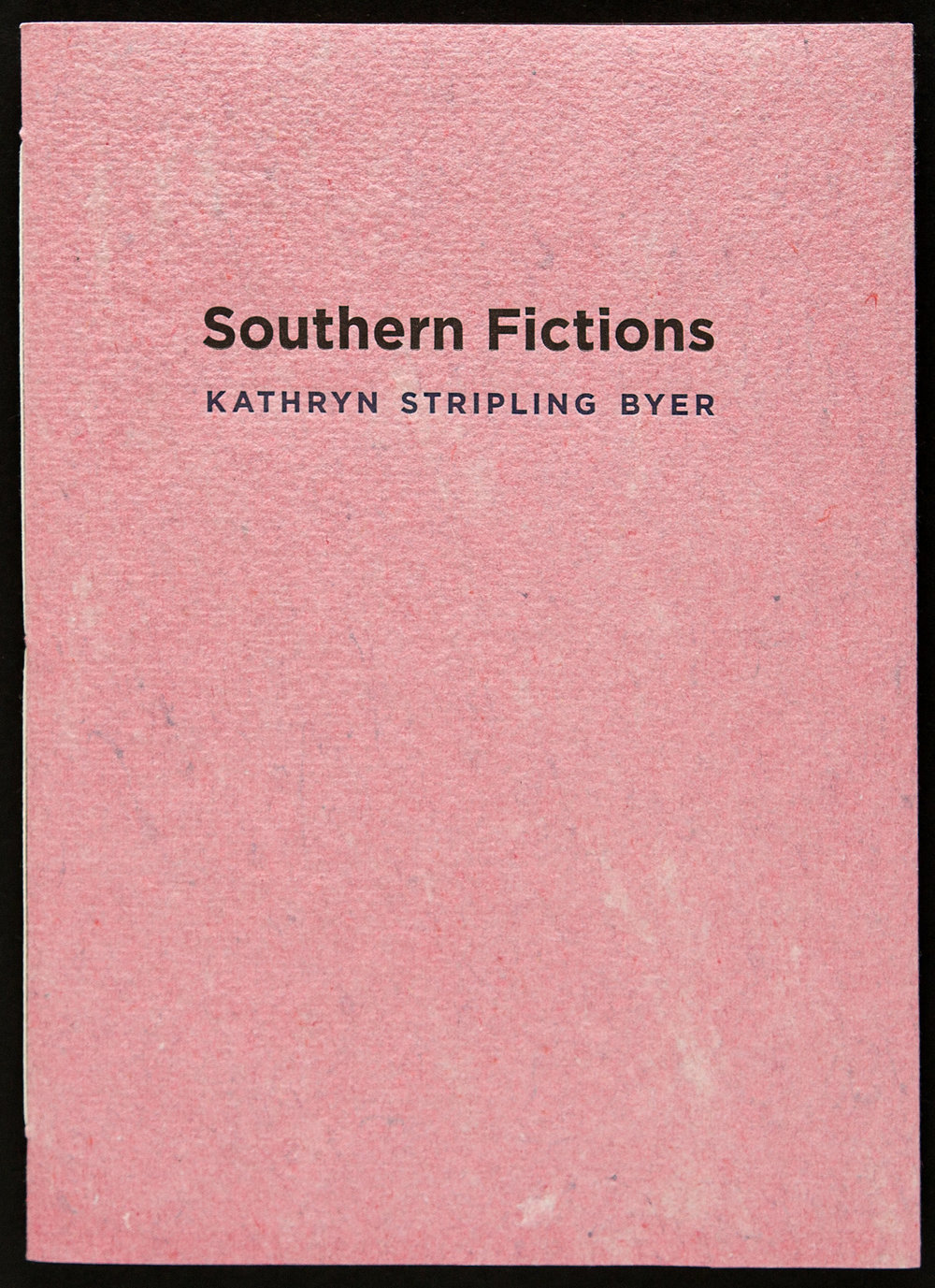 A book of sonnets by the former poet laureate looking back at growing up in rural Georgia during the Jim Crow era. The fiirst sonnet mentions how she hated how her father used to fly the Confederate battle flag—so we cut up several battle flags and re-purposed them into handmade paper covers for this edition of 200 books.