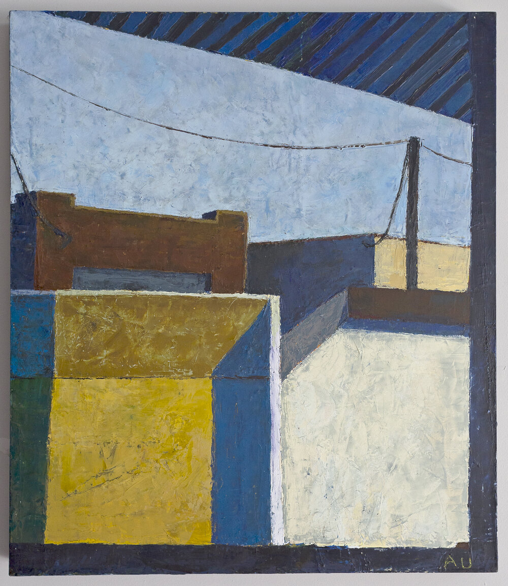 Anthony Ulinski.  Rocky Mount Mills . Painting from his landscape/building scape series exploring Eastern North Carolina.