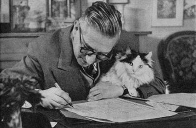 Sartre and his cat called Nothing.