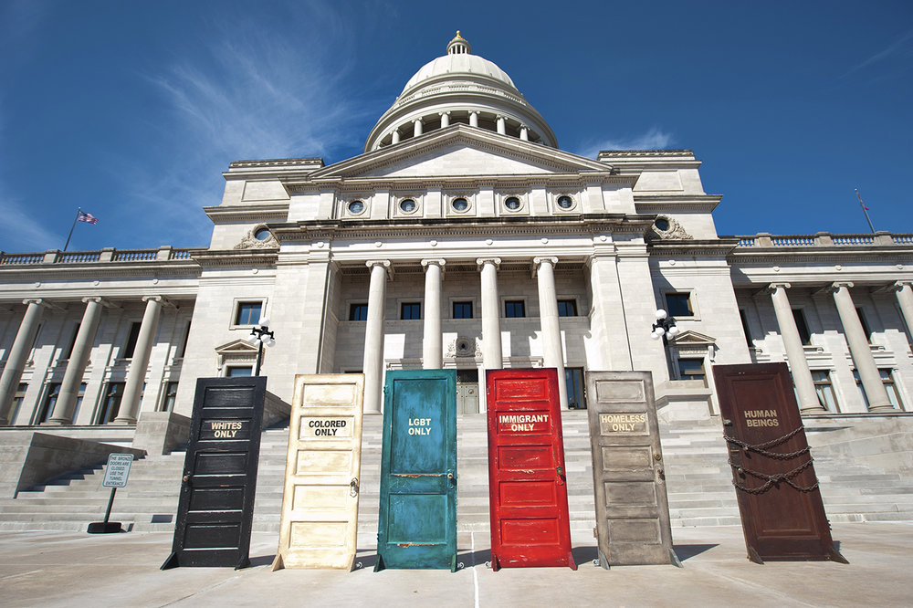 """End Hate Doors"" Installation. Arkansas State Capitol, Little Rock, Arkansas (click on image for description)"