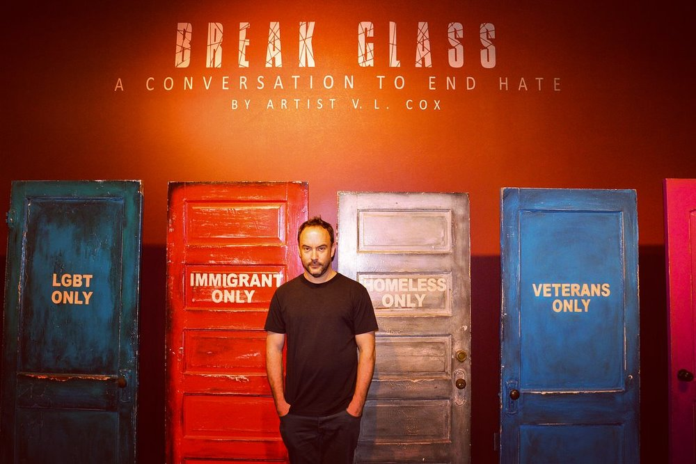 Dave Matthews, Rosa Parks Museum, Montgomery, Alabama 2018 (Photo credit Troy University)