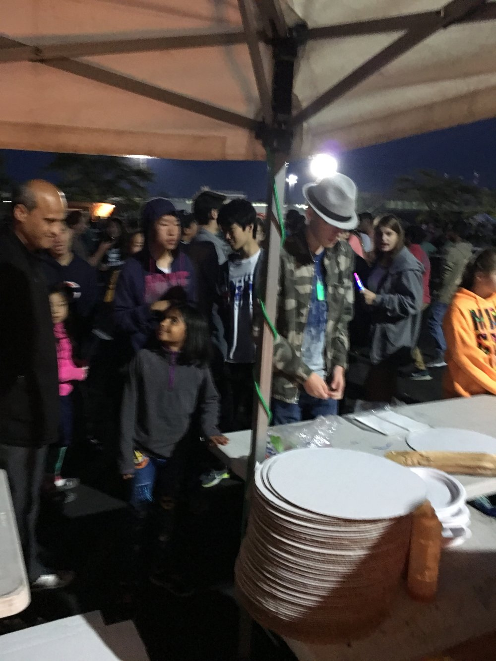 There was a non-stop line at our tent....best pizza in town!