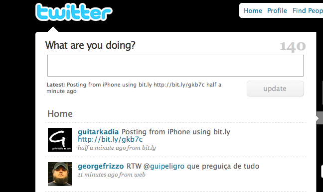 iPhone to Twitter using Bit.ly