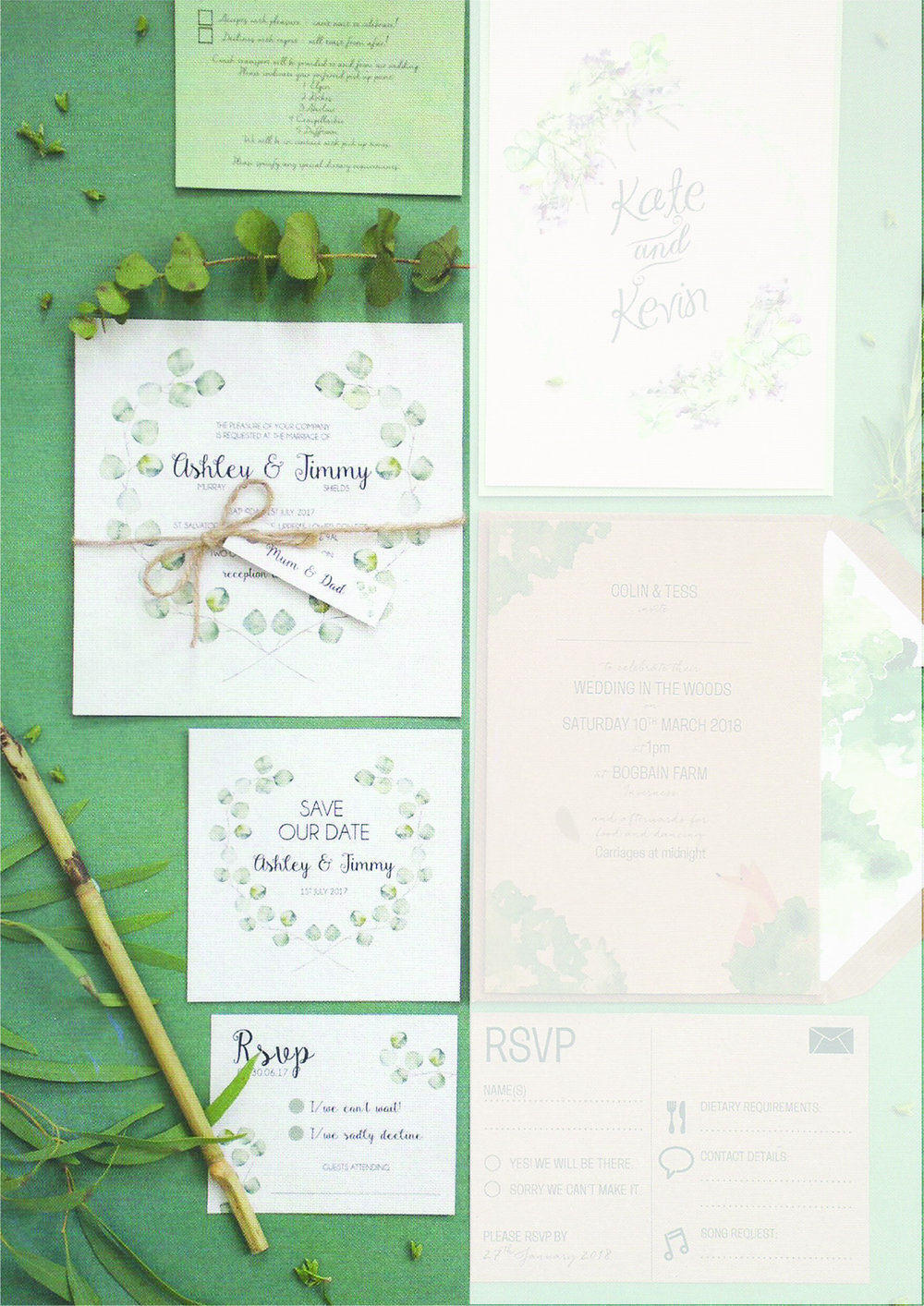 Scottish Wedding Directory - On of our most popular designs were featured in the December 17' issue of Scottish Wedding Directory magazine. This design has been a big hit from day 1. Its simple but detailed design fits a variety of wedding themes & schemes.Can be found in issue autumn 17 issue page 253.