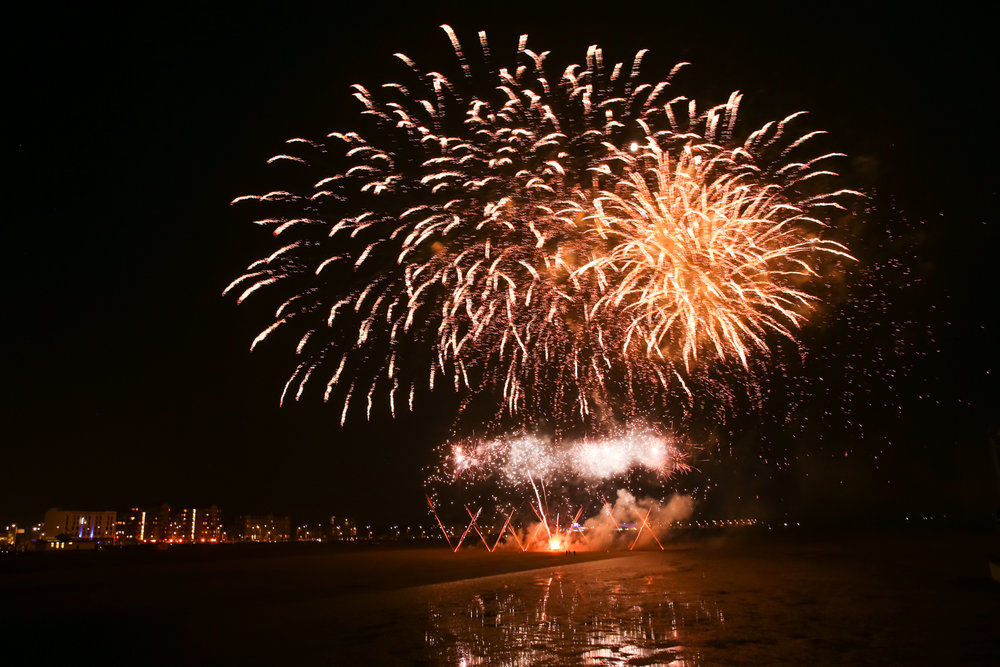 Fireworks at Sea - Weston-Super-Mare