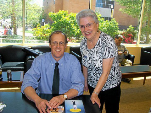 The author and me when he visited the Fay B. Kaigler Book Festival.