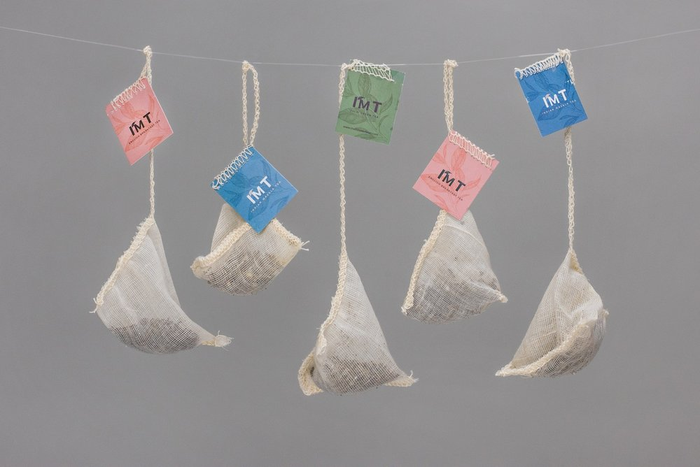 I'M T by The House of Aran, Luxury Organic Tea, Biodegradable Cotton Muslin Teabags