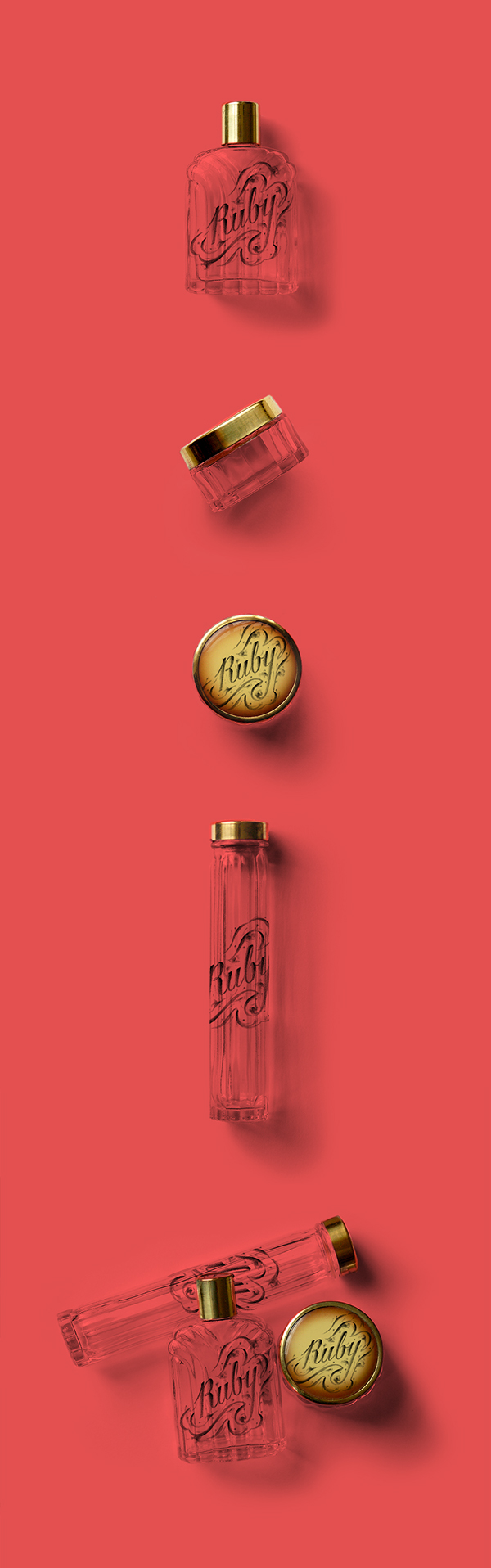 Illustrated Lettering for Ruby Perfume, by Laura Dreyer