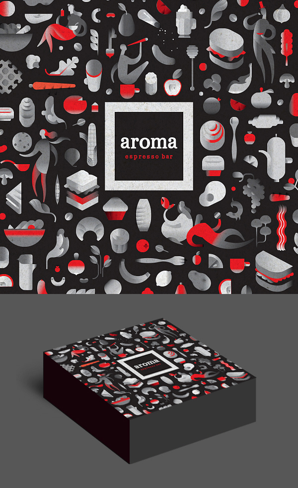 Illustration and Packaging Design  Agency: SQUAT New York | Client:  Aroma
