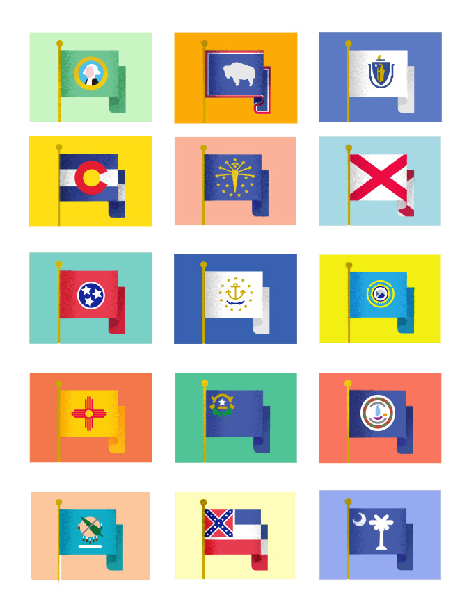 State Flag Icons  Client: K12 Inc | Art Direction: Ryan McCullah