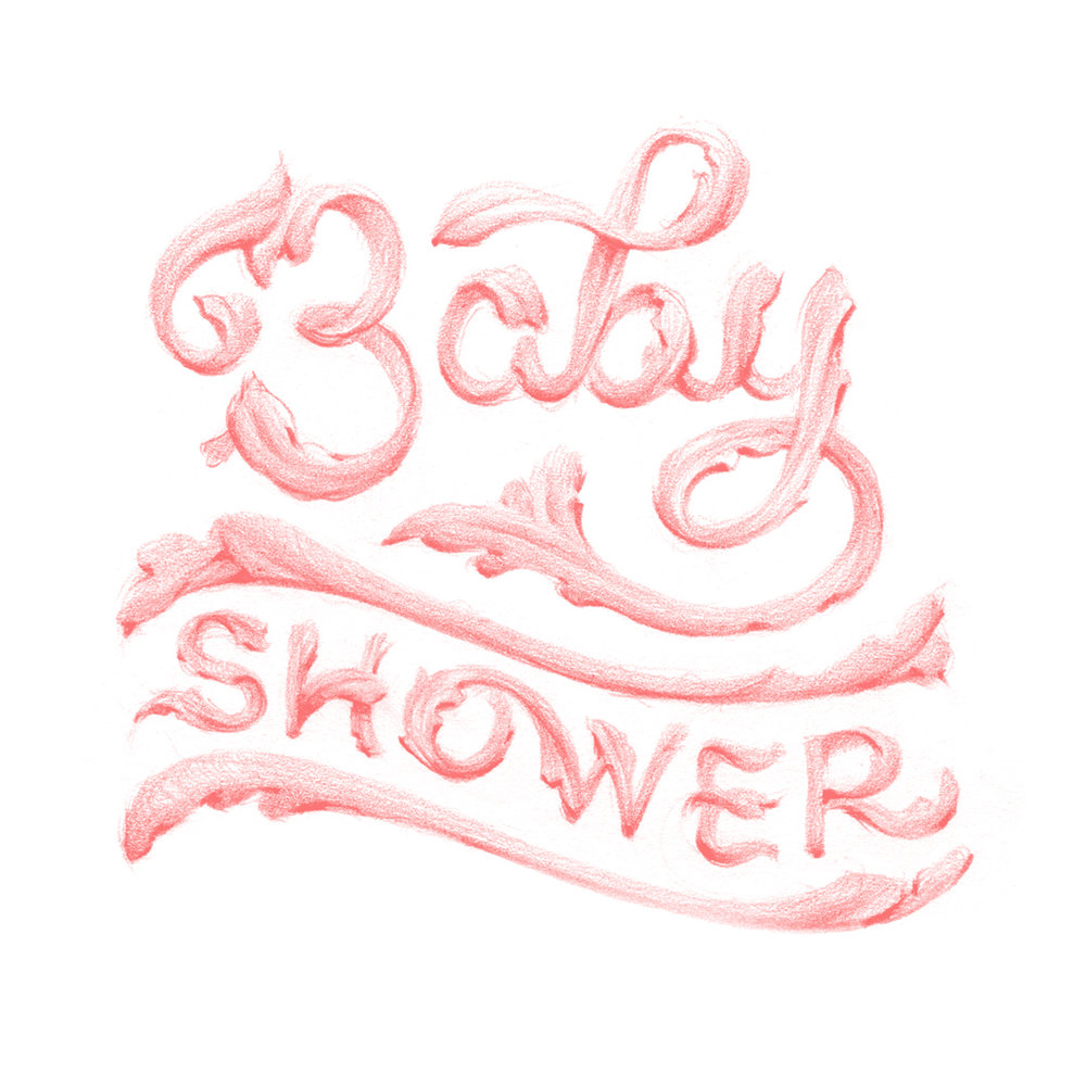 Baby Shower Lettering by Laura Dreyer