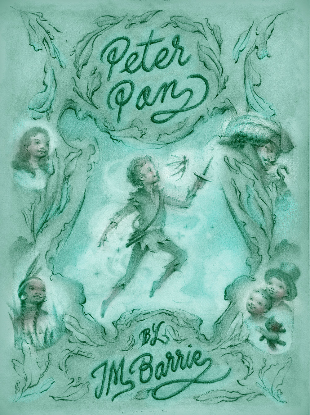 Peter Pan Book Cover Illustration