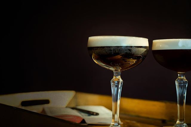"""Created in '80s Soho, London, by cocktail legend Dick Bradsell, the legend goes that a delightful young lady (by the name of 'Kate Moss') entered his bar and asked Dick to make her a drink that would """"wake me up and then fuck me up"""" at the same time. The Espresso Martini was the result.  If you're looking for a pick-me-up, the Espresso Martini is here to jolt you awake with its boozy magical powers. The cold coffee-flavored cocktail is a sumptuous mix of vodka, coffee liquor and espresso that gets people giggling with excitement at its mere mention. It's rich, indulgent and creamy, and the shot of espresso will make sure you keep up with the pack if you find yourself flagging. #yorkshirebartender #cocktails #cocktailsofinstagram #bar #barhire"""