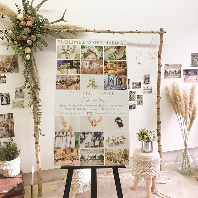 Je suis encore là demain! Le Yes Yes festival, c'est à la maison de l'architecture de rouen et c'est trop chouette! . . . #clemencehabibdecoration #yesyesfestival #sarahfarsyscenographie #mariage #wedding #fleurs #fleursdemariage #centredetable #bougies #eucalyptus #jolietable #arche #marboinlove #bouquetdemariee