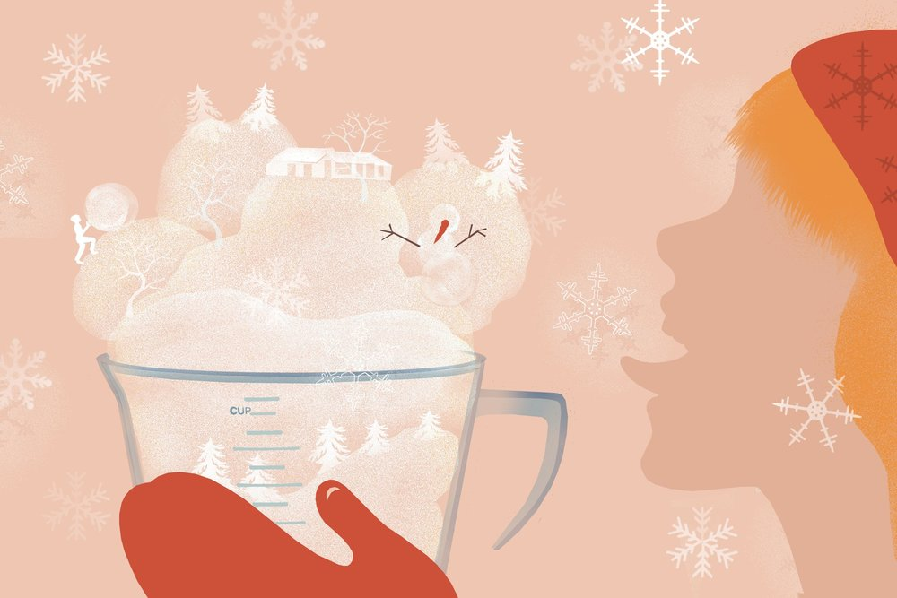Christmas Fudge and Misremembered Snow Cream