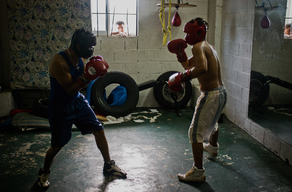 Sparring session.