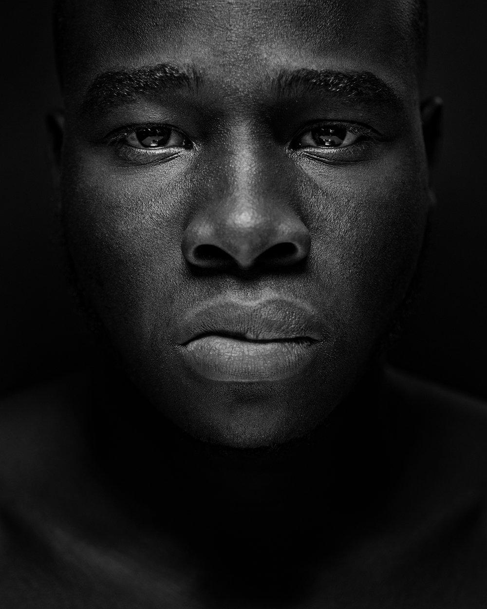 Portrait of boxer Rodney Merisier