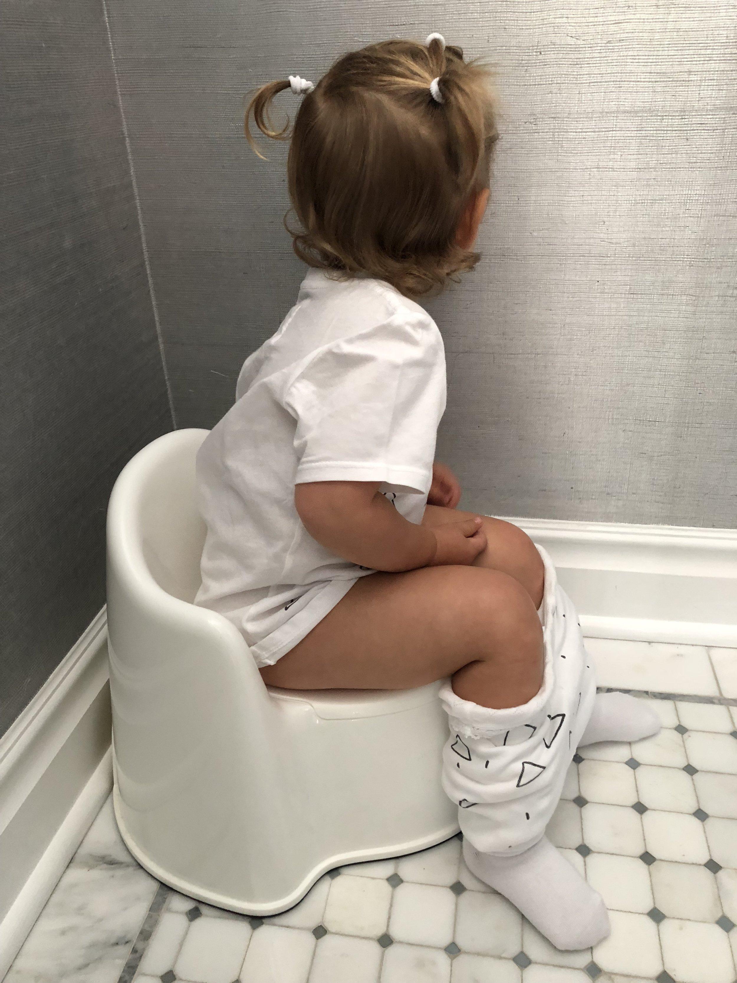 toddler girl potty training naked