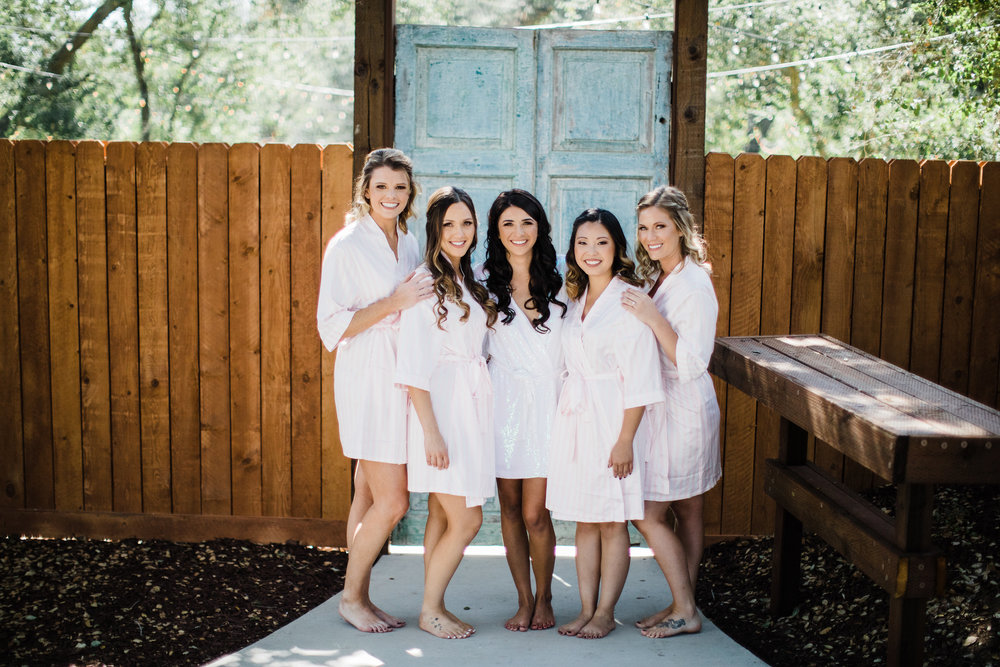 Bridesmaids Dresses and Robes