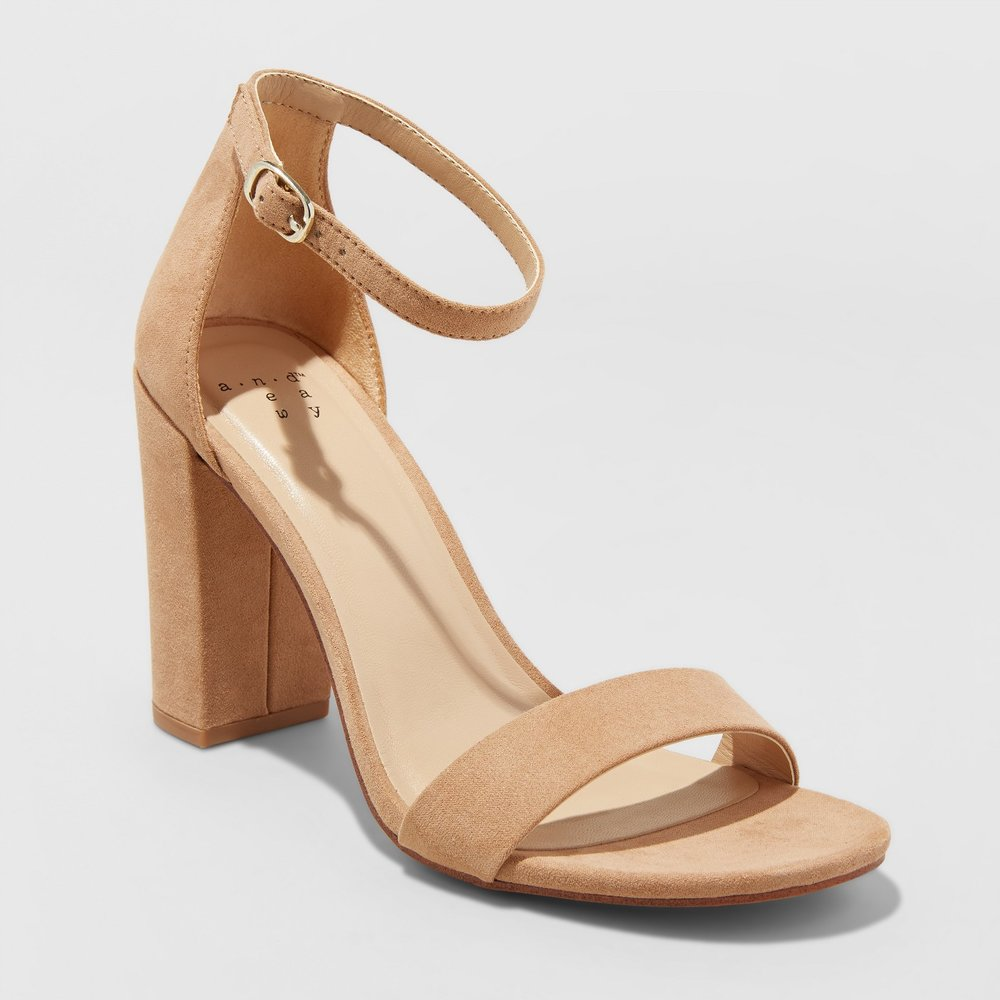 - Another dupe for you! These are similar to the Steve Madden heels that everyone wears with dresses! I own the lower heel and now I want the higher heel! Click here for the high heel and click here for the lower heel!