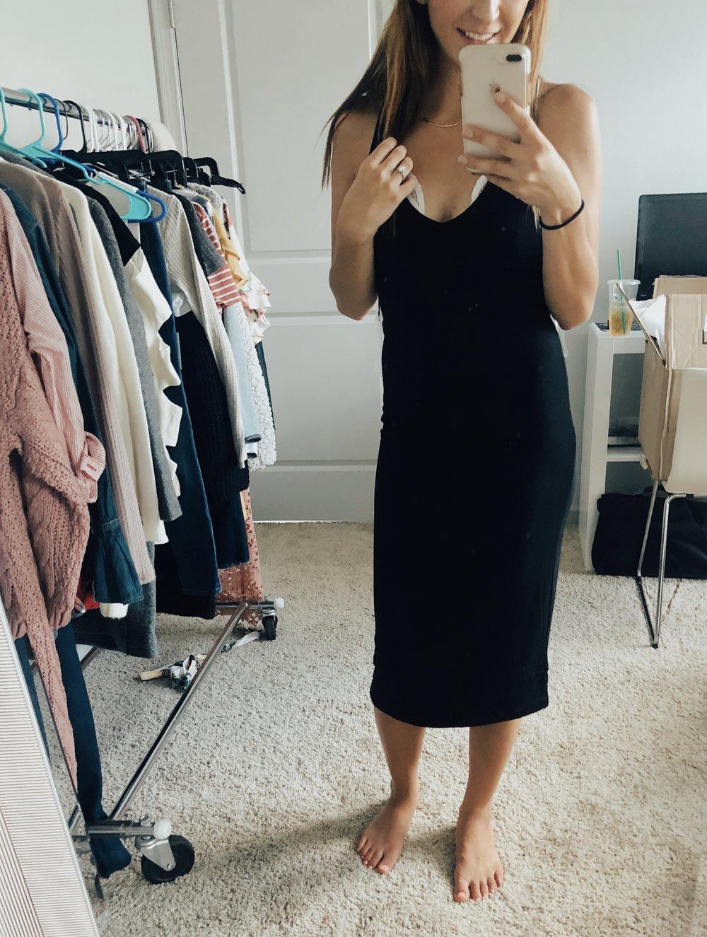 Midi Dress  //  Free People Bralette  (NOT ON SALE!)