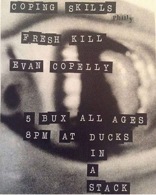 🌀 Bloomington! 🌀 don't miss this @fresh.kill.band gig this Saturday! 628 S Washington 😎 || flyer by: @agatha_thrash