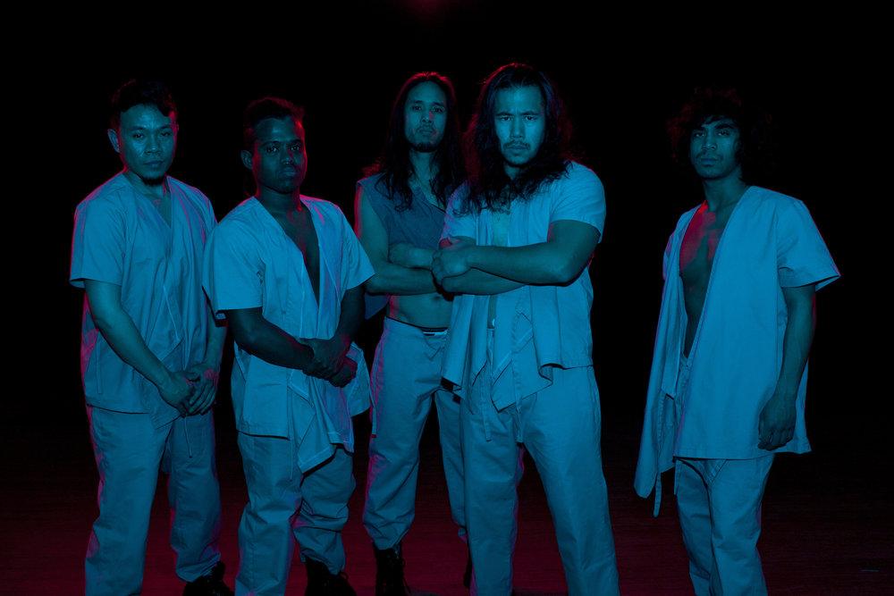 Photo by Wilfred Galila. L-R: Tino Lagahid, Earl Paus, Johnny Huy Nguyen, Jonathan Mercado, Jose Abad.