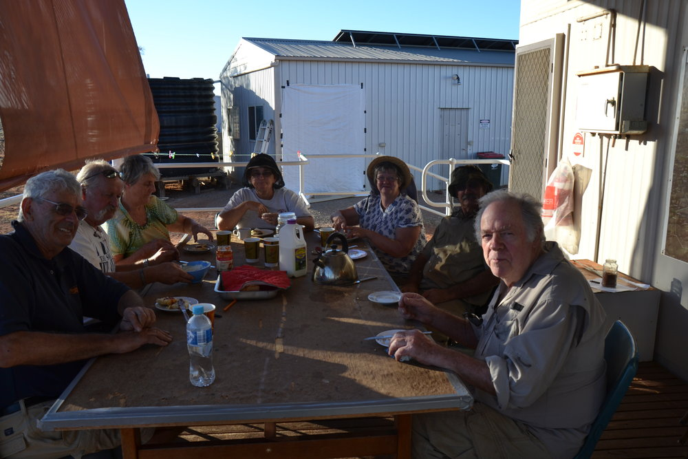 The Research Station decking and blinds have also been repaired, followed by the essential scones.