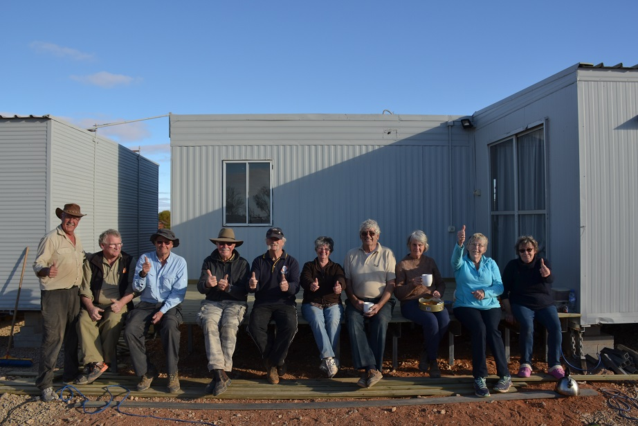 Members of the Rotary Club of Frankston involved in the construction of the deck.