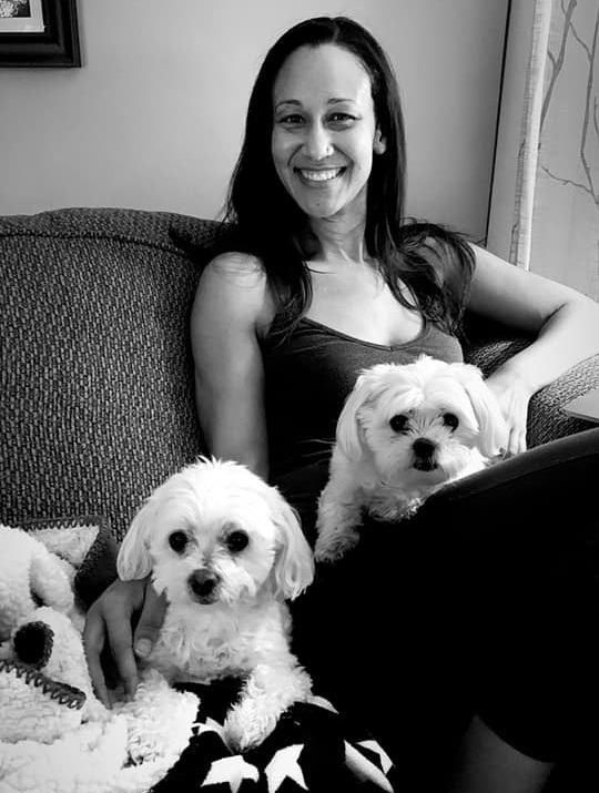 Cuddling with my favorite girls, Lola and Teigen, during my most recent trip home to LA.