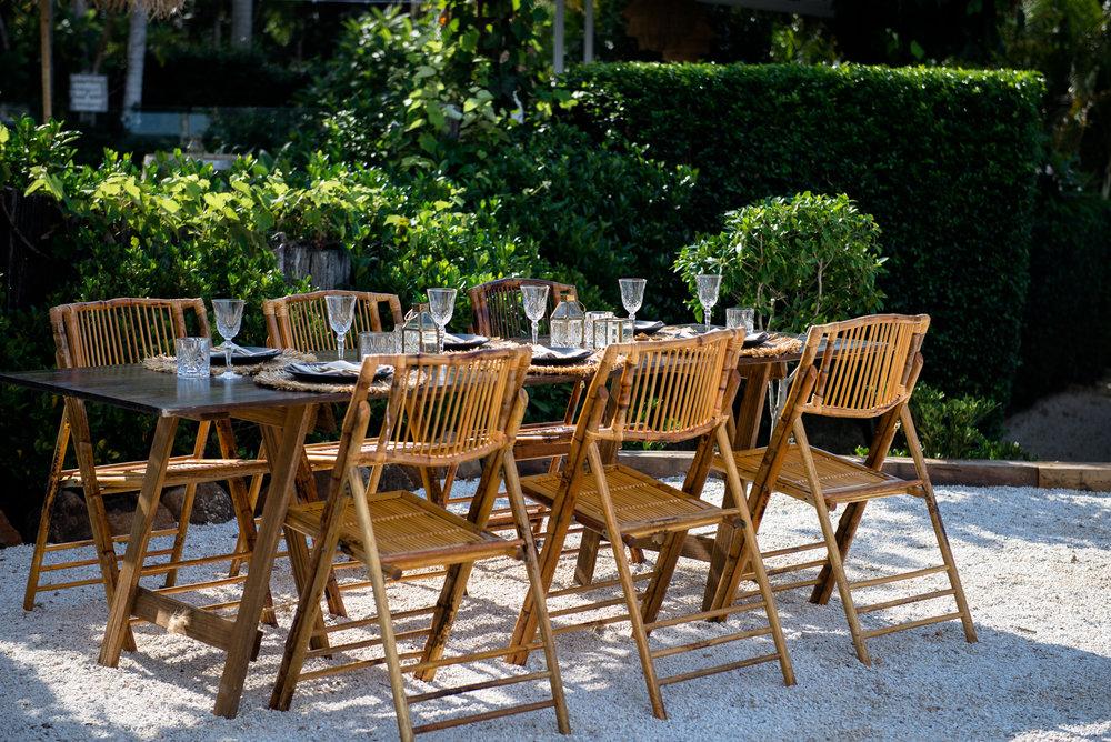 Bamboo Folding Chair | $12ea | Qty 80