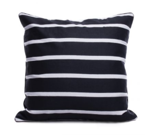 Black & White Big Stripe Cushion I $7.50ea I Qty 3